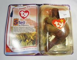 Steg the Stegosaurus 1994 McDonald's TY Beanie Baby With Tag Errors C2806 - $15.45