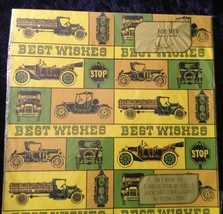 VINTAGE WRAPPING PAPER - Antique Cars - Laurel Brand NOS - 2 Sheets 19.7... - $8.86