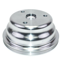 Chevy SB 262 350 400 Long Water Pump Single-Groove Aluminum Crankshaft Pulley image 6
