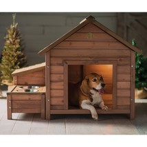 Dog House Wood Outdoor Home Bed Puppy Shelter Pet Kennel Wooden Sleeping... - $170.25