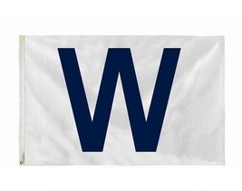 "CHICAGO CUBS Win ""W"" flag White and Blue Fly The W Wrigley 3x5 - $6.90"