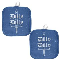 Dilly Dilly Sword Olde English Blue All Over Pot Holder (Set of 2) - $18.95