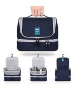 Designer Hanging Toiletry Bag Travel Cosmetics Waterproof Nylon Organize... - $32.45 CAD
