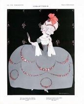 French Pinups: La Vie Parisienne - Girl in Court Dress  - Brunelleschi - 1913 - $12.95+