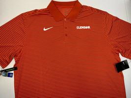 NWT Size 2XL 3XL Nike Clemson Tigers Striped Polo Shirt Golf Polyester L... - $29.99