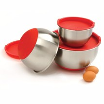 Norpro 10446 3-Piece Stainless Steel Grip Bowls with Lids - $697,97 MXN