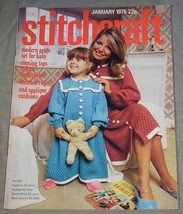 Stitchcraft January 1975 No. 493 - Pram Set, Evening Tops to Kit and Cro... - $13.86
