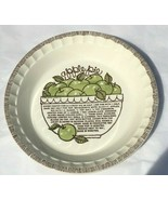 Thanksgiving Apple Pie Dish Plate Recipe on Dish Royal China Co Made in USA - $11.99