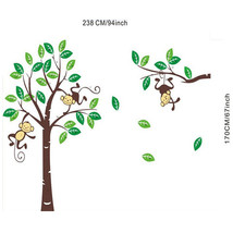 New Monkey On Tree Art Removable Wall Stickers Baby Room Home Decal Decor - $25.14