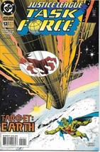 Justice League Task Force Comic Book #12 DC 1994 VERY FINE/NEAR MINT NEW... - $2.75