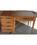 MID CENTURY Singer Model 417 Sewing Machine With Built In Sewing Table- VGC - $296.99