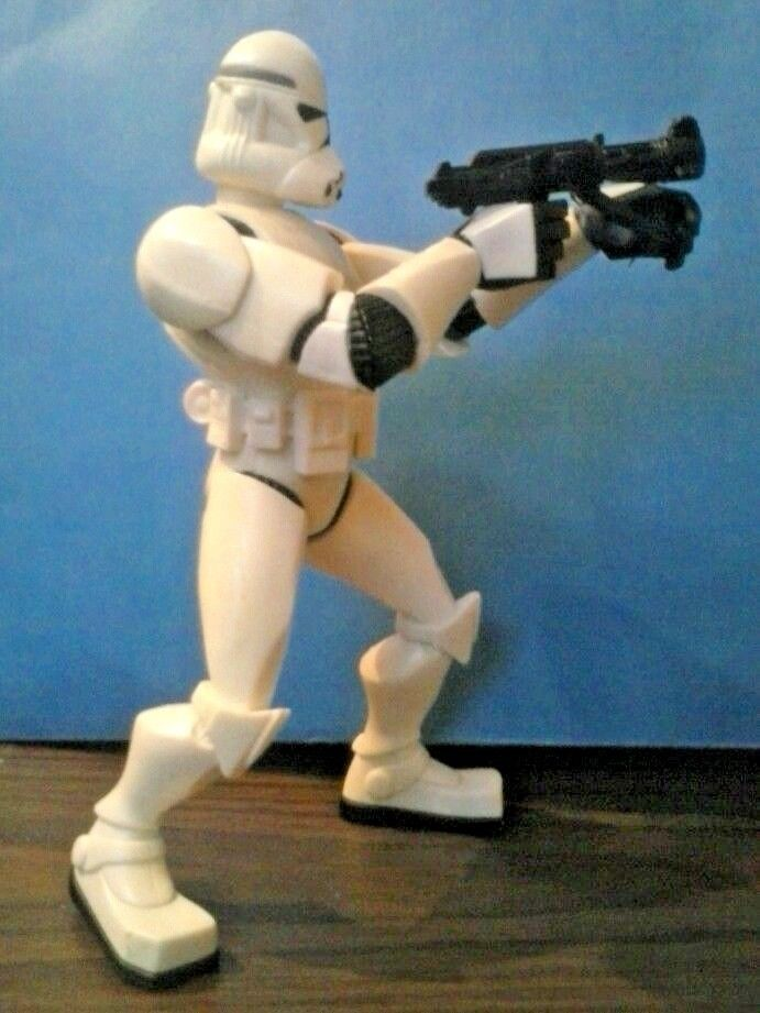 """STAR WARS STORM TROOPER WITH ACTION 7"""" TALL Hasbro LFL 2005 figure"""