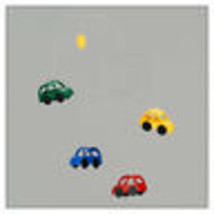 Automobile Flensted Mobile by Louise Helmersen. in bright, primary colors - $46.75