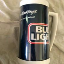 1986 vtg Bud Light Spuds MacKenzie Thermo Serv plastic beer mug party an... - $14.84