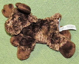 "AURORA WORLD MINI FLOPSIES 7"" MOOSE BROWN BEANBAG STUFFED ANIMAL PLUSH A... - $5.00"