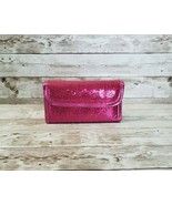 Pink Glitter Makeup Case - Small With Built In Mirror & Tool Holders - $4.99