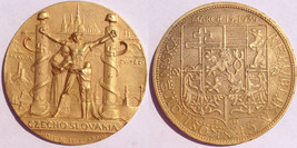 1939 New York World's Fair Czechoslovakia Nazi Oppression Medal - $89.99