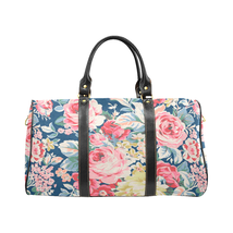 Spring Summer Garden Pattern Gucci Style Large Travel Bag Custom Handmad... - $172.20 CAD