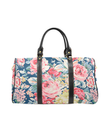 Spring Summer Garden Pattern Gucci Style Large Travel Bag Custom Handmad... - £104.35 GBP
