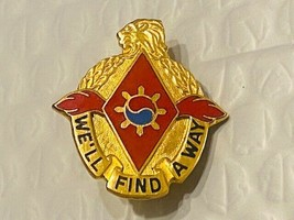 US Military 119th Maintenance Battalion Insignia Pin -We'll Find a Way - $10.00