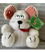 "Vintage 1988 Applause Christmas Dreams Plush Holiday Mouse 8"" w/Tags Nice! - $23.96"