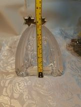 Mikasa Golden Stars Nativity Scene Evita Lead Crystal Frosted Glass Germany  image 6