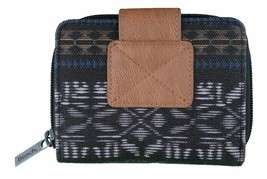 Bench Womens Black Lovelock Bramhall Card Wallet Coin Purse Aztec Dogs NWT image 2