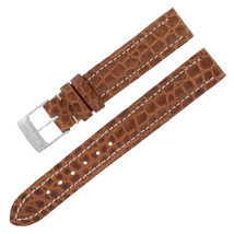 Breitling 500P 15-14mm Genuine Alligator Leather Brown Ladies Watch Band... - $228.86