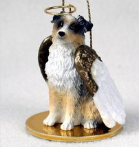 AUSSIE AUSTRALIAN SHEPHERD DOCKED BLUE ANGEL DOG CHRISTMAS ORNAMENT HOLIDAY - $12.98