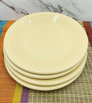 Homer Laughlin FIESTA Salad Plates Set of 4•IVORY Contemporary 2008 - $29.69