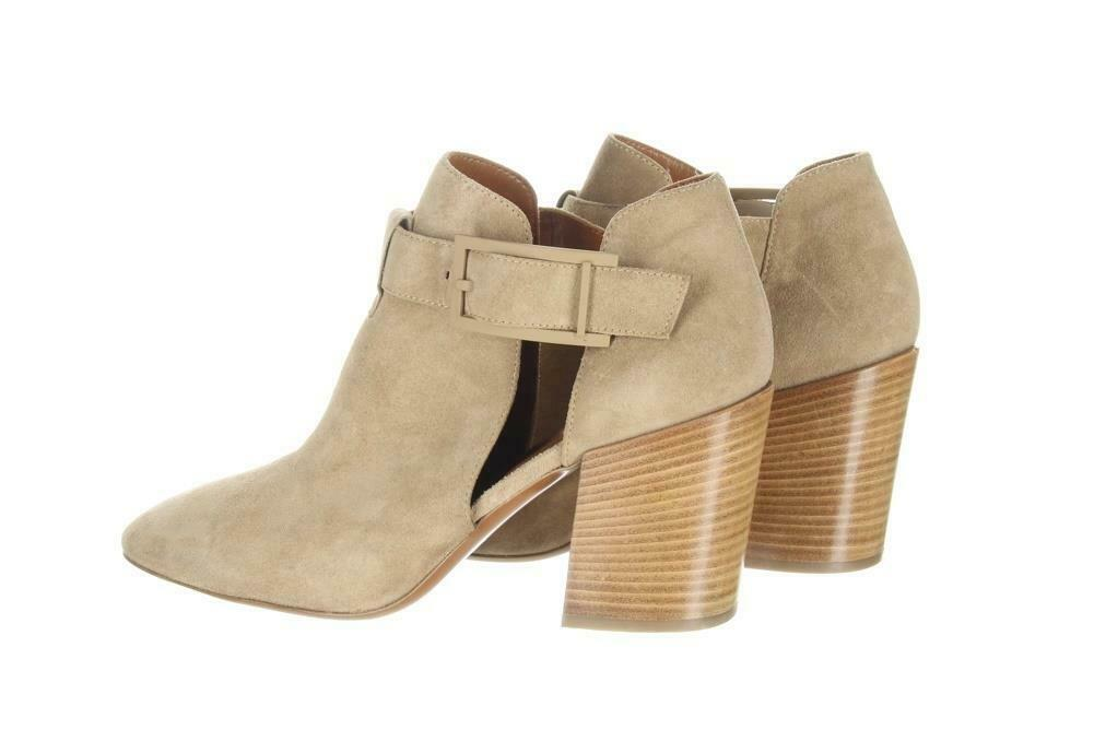 Aquatalia Women's Suede Cutout Booties Tan Ankle Boots Booties Sz. 10.5. image 6