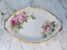 Royal Albert American Beauty small oval tray plate England Bone China - $35.00