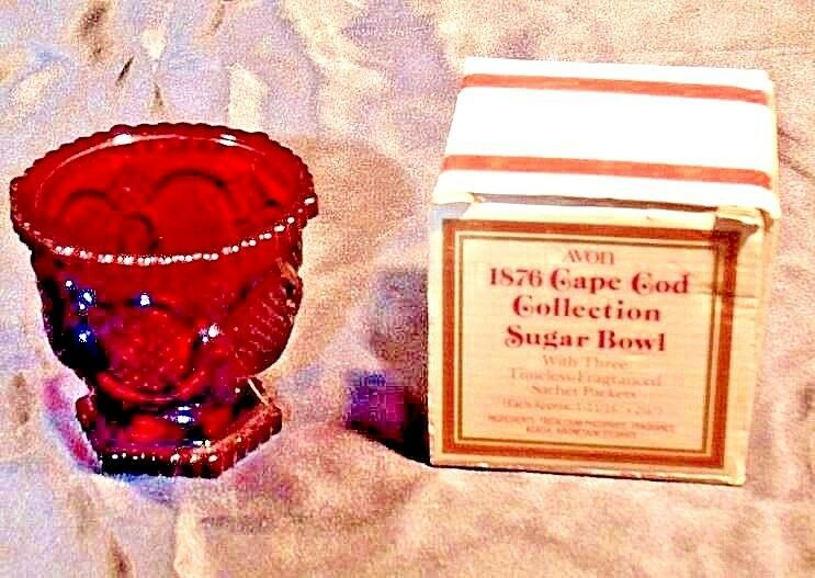 1876 Cape Cod Collection Red Sugar Bowl AA18-1249 VintageSquare AVON