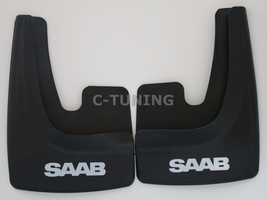 Universal car mud flaps with SAAB logos rear front snow guards 3D custom... - £22.80 GBP