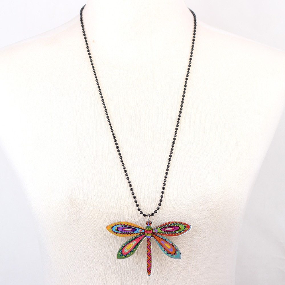dragonfly necklace pendant acrylic  2015 news accessories spring summer cute des