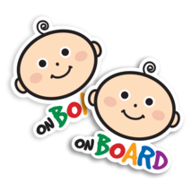 Baby on Board Sign stickers . Premium Laminated Stickers . Mini Size (2pc) - $5.75