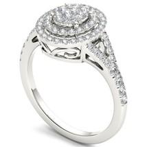 IGI Certified Genuine 0.50 Carat 14K White Gold Diamond Halo Engagement ... - $719.99