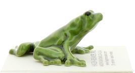 Hagen-Renaker Miniature Ceramic Frog Figurine Green Tree Frog
