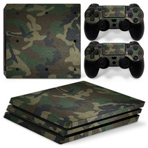 Sony PS4 PRO Green Camo Console & 2 Controllers Decal Vinyl Skin Wrap Sticker - $14.82