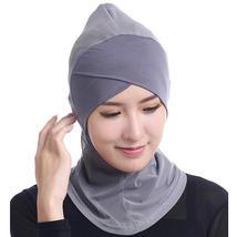Women Muslim Hijab Hat Full Cover Inner Islamic Turban Head Wear Hat Underscarf  - $18.49