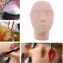 Pro Training Mannequin Flat Head Practice Make Up Eyelash Eye Lashes Ext... - $11.43