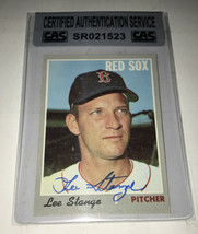 Lee Stange 1970 Topps Autographed Baseball Card CAS - $14.99