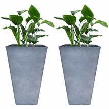 Tall Planters 26 Inch Large Flower Pots Pack 2, Indoor and Outdoor Patio... - $113.89