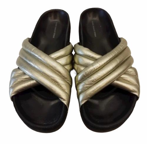 ISABEL MARANT ETOILE SZ 38/8 Silver HOLDEN Sandal Slide Shoe # 4014