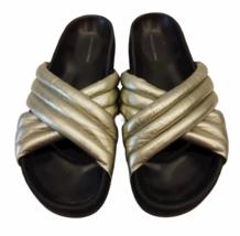 ISABEL MARANT ETOILE SZ 38/8 Silver HOLDEN Sandal Slide Shoe # 4014 image 1