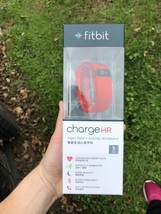 Fitbit Charge HR Heart Rate Activity Wristband size LARGE Red - $54.45