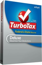 Turbotax 2009 Deluxe Federal plus state Turbo tax For Window's and Mac NEW - $12.86