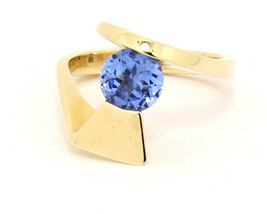 Custom 14k Yellow Gold Ring with Spinel Size 7.25 - $589.00