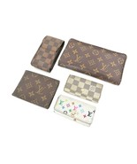 Auth LOUIS VUITTON Canvas Wallet Case Key Holder 5pc Set #35146 - $295.00