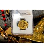 """SPAIN 4 ESCUDOS 1630 """"DATED"""" ATOCHA ERA"""" NGC 58 PIRATE GOLD COINS TREASU... - $5,950.00"""